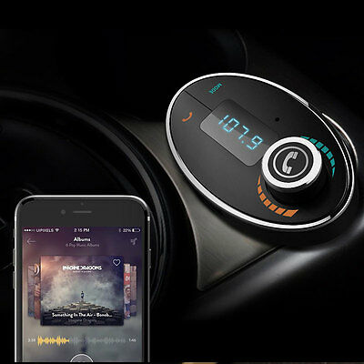 Bluetooth FM Transmitter Car Kit MP3 Player Charger TF Card Handsfree Black