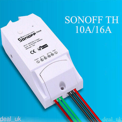 TH10A Temperature &Humidity Monitoring WiFi Smart Switch Control For Sonoff