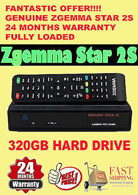 Zgemma Star 2S - 24 Months Guarantee Twin Tuner +320Gb Hdd ***new Year Gift***