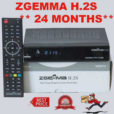 ZGEMMA H.2S with 24 MONTHS GUARANTEE ***TWIN TUNER *** NEW YEAR GIFT ***