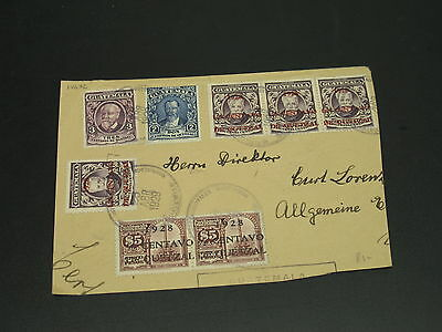 Guatemala 1929 part cover front to germany *14632