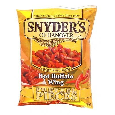 Snyder's Hot Buffalo Wing Pretzel Pieces 125g - 10 Pack