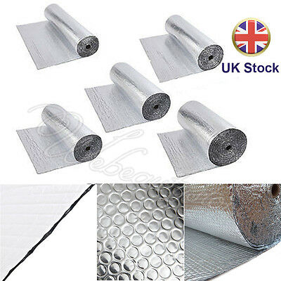 Double Foil Single Bubble Floor Loft Wall Insulation Roll Various Size 200g/m²