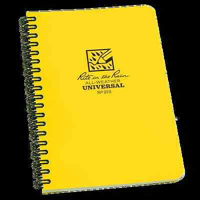 "RITE IN THE RAIN No373 ALL WEATHER NOTEPAD 4 5/8"" x 7""  BUSHCRAFT SURVIVAL EDC"