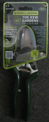 ~ Spear & Jackson ~ 6657KEW ~ Razorsharp Secateurs ~ The Kew Gardens Collection~