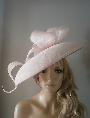 Pink/feather/fascinator/saucer/vintage/ascot/wedding/hat/ascot/races/bride/hats