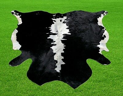 "New Cowhide Rugs Area Cow Skin Leather 14.29 sq.feet (49""x42"") Cow hide MB-9187"