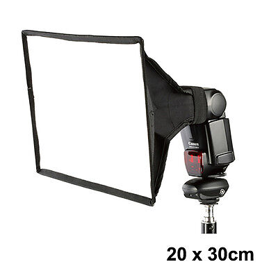20x30cm Universal Speedlite Foldable Portable Flash Diffuser Softbox For Nikon