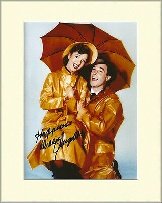DEBBIE REYNOLDS SINGIN IN THE RAIN PP 8x10 MOUNTED SIGNED AUTOGRAPH PHOTO