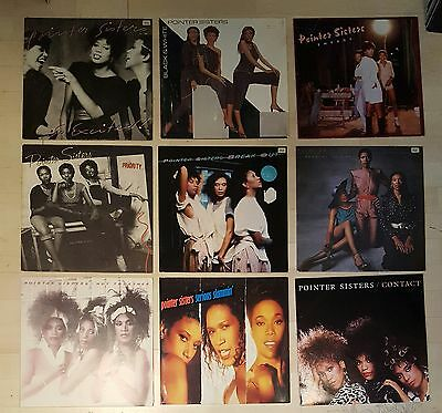 9 LP SAMMLUNG POINTER SISTERS Top Black music I AM SO EXCITED, FRANKIE, JUMP...