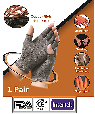 Copper Compression Hand Gloves,Relief Arthritis,Rheumatoid, Sports & Joint Pain.