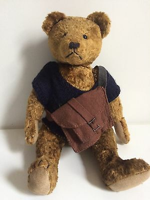 "Naomi Laight Teddy Bear, ""Humpfrey"", Mohair, Jointed, 14"", 90/100, Exc Cond"