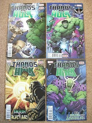 THANOS vs. HULK #'s 1-4 (FULL SET, 2015), NM NEW (Bagged & Boarded)