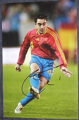Xavi Barcelona / Spain signed football picture