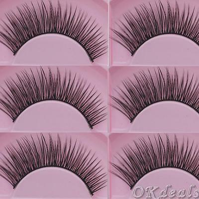 Makeup Thick False Lashes Eye Lashes Extension Long Sparse Cross