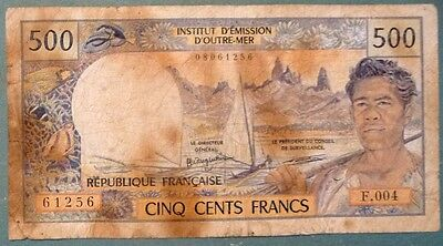 FRENCH PACIFIC TERRITORIES 500 FRANCS FROM 1992, P 1 a, 2 SIGNATURES ,NO THREAD