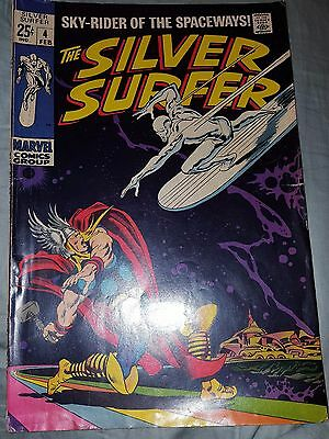 "The Silver Surfer ""Sky-Rider Of The Spaceways!"" Vol. 1 No. 4 February 1968 MB444"