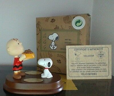 Peanuts Snoopy & Charlie Brown  Avenue Of The Stars Made In France  New In Box