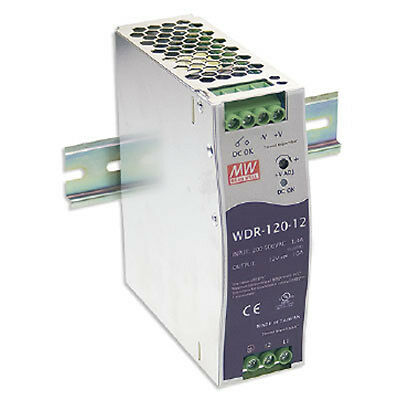 Mean Well WDR-120-24 Power Supply Switching Din 120 Watt 24VDC@5A Ul Ce Cb