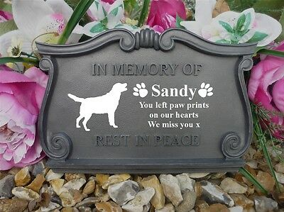 Dog Memorial - Scroll Plaque - Large - Personalised with your Dog's Breed