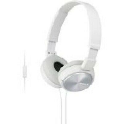 Sony Headphones MDR-ZX310APW with Mic - White