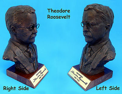 """BUST - Theodore """"Teddy"""" Roosevelt 26th President USA - **Hand Crafted  USA**"""