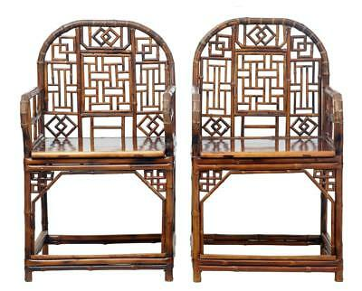 Pair Of Chinese 19Th Century Bamboo Armchairs