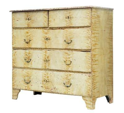 19Th Century Swedish Painted Pine Chest Of Drawers