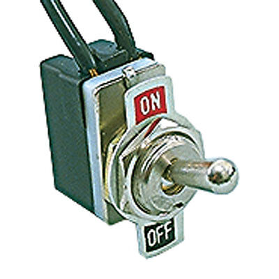 Toggle Switch Full Single Pole Single Throw (On-Off) 6.0 Inch Wire 125VAC 3 pcs