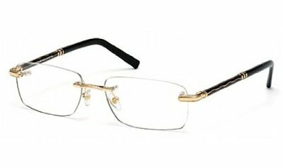 Authentic MONTBLANC Gold Rimless Rx Eyeglasses MB0432 - 006 *NEW*  56mm