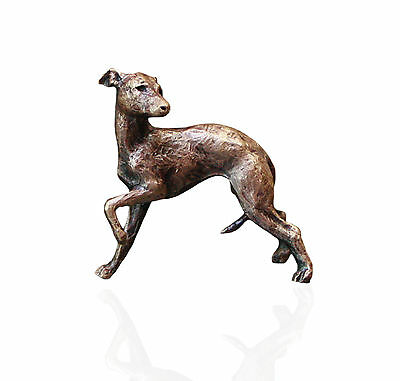 Whippet Dog Bronze Miniature Sculpture - Butler & Peach.