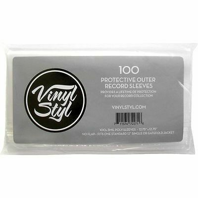 """Vinyl Styl 12"""" LP Protective Outer Record Sleeves (100 pack)"""