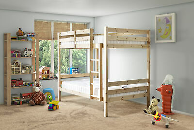 Everest 4ft 6 DOUBLE HEAVY DUTY Solid Pine  Bunk Bed (EB9)