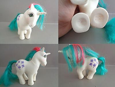 Mon Petit Poney - My Little Pony Hasbro G1 1984 Licorne Made In Hong Kong