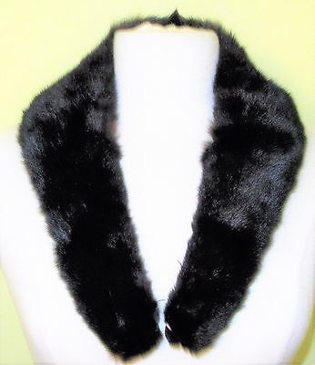 Vtg Black Mink Collar-31 Inches Long