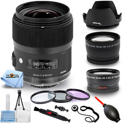 Sigma 35mm f/1.4 DG HSM Art Lens for Canon DSLR Cameras 340-101 PRO BUNDLE