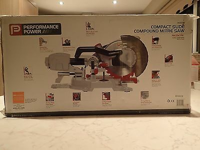 Performance Power - Compact Slide Compound Mitre Saw 1400W, Redeye 210mm