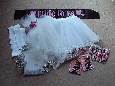 Hen Party & Bride to Be Accessories Job Lot of 13 Hen Night Fancy Dress Items
