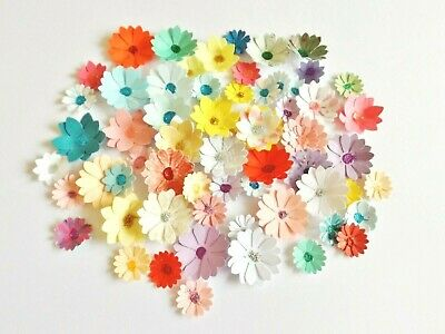 Mixed Flowers Card Making Scrapbook Embellishments Paper Craft Supplies X 50