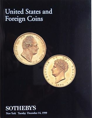 Sotheby's Auction Catalog United States and Foreign Coins 14 Dec. 1999 New York