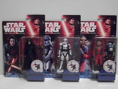 Star Wars The Force Awakens Action Figure Joblot 3 Figures New Sealed!!!!