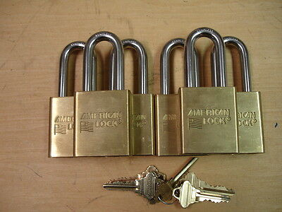 Lot of 6 New American Lock 3901-SSS Padlocks-With Schlage FSIC Cores--K/A