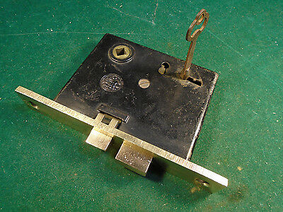CHANTRELL TOOL CO.  MORTISE LOCK w/KEY - RECONDITIONED BEAUTIFUL (3400-26)