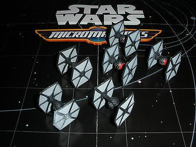 Micro Machines Star Wars 2015 Lot X6 Imperial (3) & First Order (3) TIE Fighters