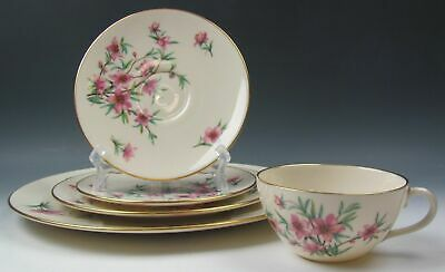 Lenox China PEACHTREE 5 Piece Place Setting(s) EXCELLENT