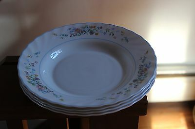 Arcopal Victoria Rimmed Bowls~Lot Of 4~Preowned~Clean~Nice Find