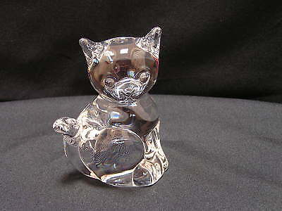 "Vintage Signed Daum France Crystal Kitten/Cat Figurine,Ex, 5.5""T x 4""W x 2""D"