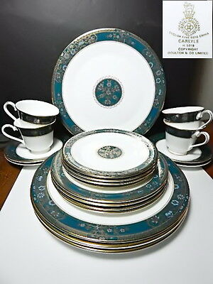 Royal Doulton CARLYLE 20 Pc Set, 4 Place Settings, 1st Quality, Near Mint