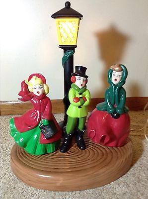Vintage Atlantic Mold - Lighted Christmas Pole With 3 Carolers
