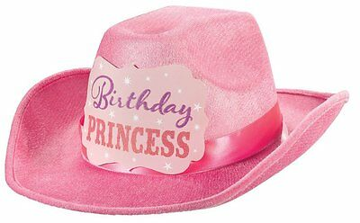Amscan Girl Pink Birthday Party Princess Cowgirl Cowboy Hat 396777